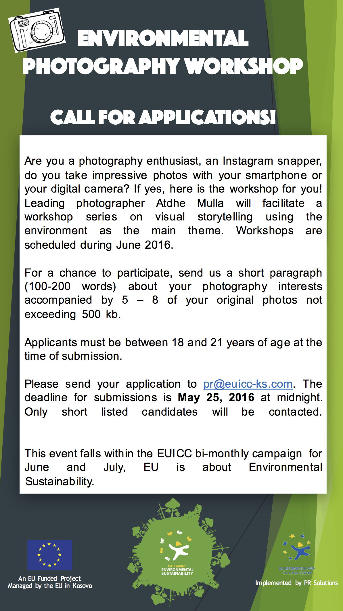 EUICC - Photography Call for Applications